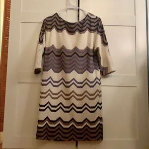 Chevron Sweater Dress from Phoebe Couture
